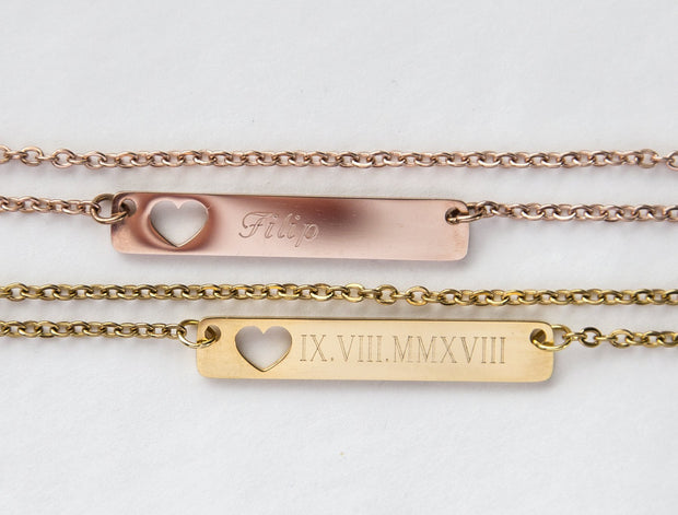 Buy Personalized Name Bar Necklace Gift, Mom to Be Jewelry & Watches - Xshopz