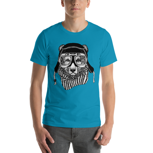 Rider Bear Short-Sleeve Unisex T-Shirt - Xshopz