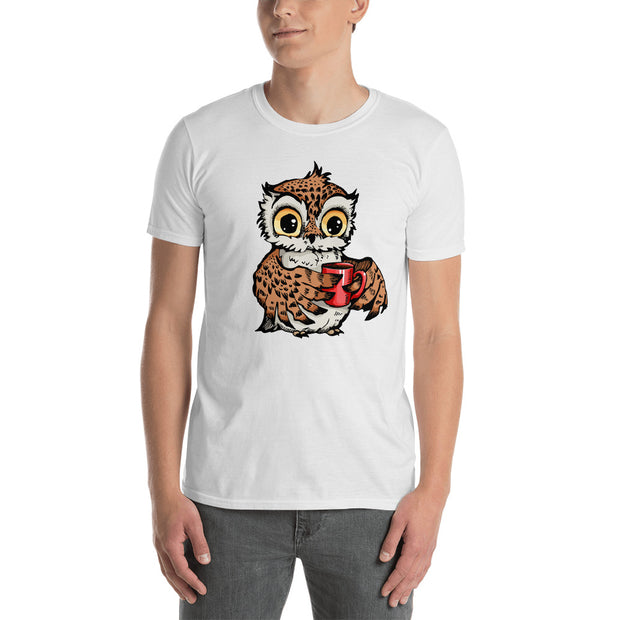 Buy Owl Tea-Time Short-Sleeve Unisex T-Shirt Men's Clothing - Xshopz