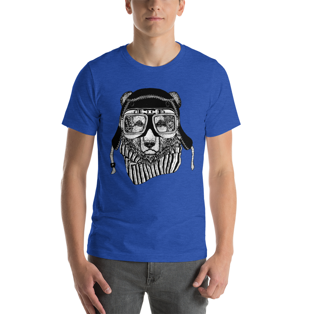 Buy Rider Bear Short-Sleeve Unisex T-Shirt Men's Clothing - Xshopz
