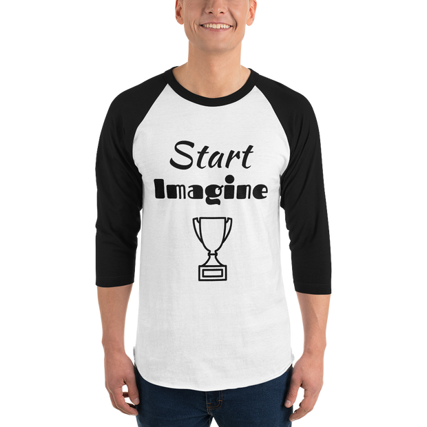 Buy Start Imagine & Win 3/4 sleeve raglan shirt Men's Clothing - Xshopz