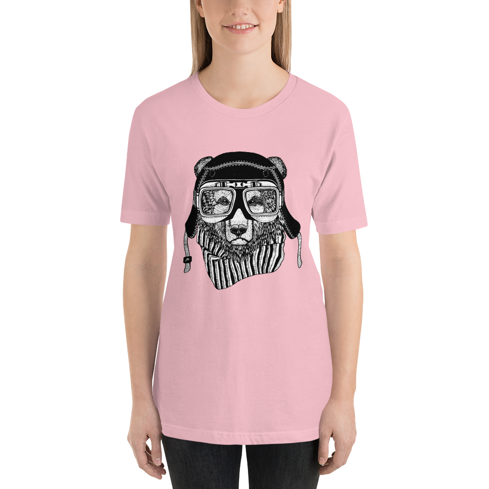 Rider-Bear Short-Sleeve Unisex T-Shirt - XshopZ