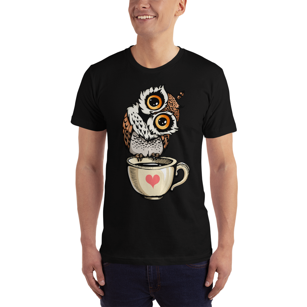 Buy Love Owl Short-Sleeve T-Shirt Men's Clothing - Xshopz