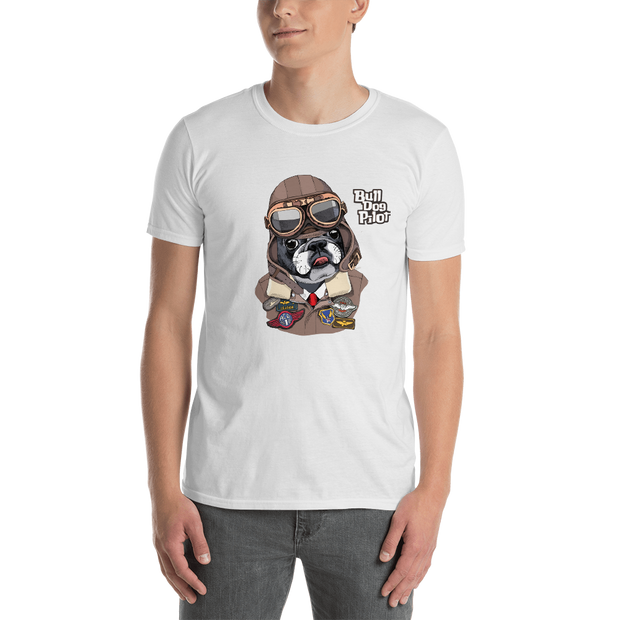 Bull Dog Pilot Short-Sleeve Unisex T-Shirt - Xshopz