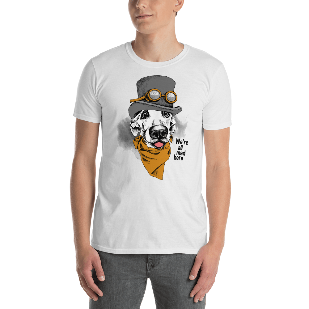 Buy We are all mad here Short-Sleeve Unisex T-Shirt Men's Clothing - Xshopz