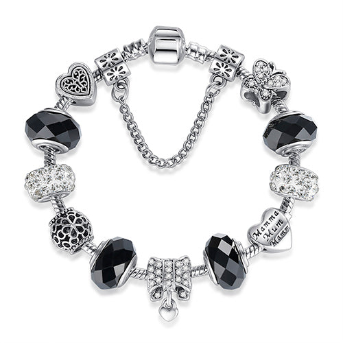 Buy Silver Crystal Charm Bracelet for Women  - Xshopz