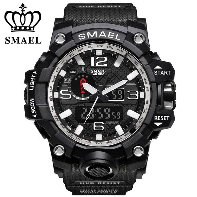 Buy Sports Watches Men Dual Time SMAEL Brand Men Accessories - Xshopz