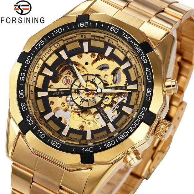 Buy Gold Automatic Vintage Watch by FORSINING Men Accessories - Xshopz