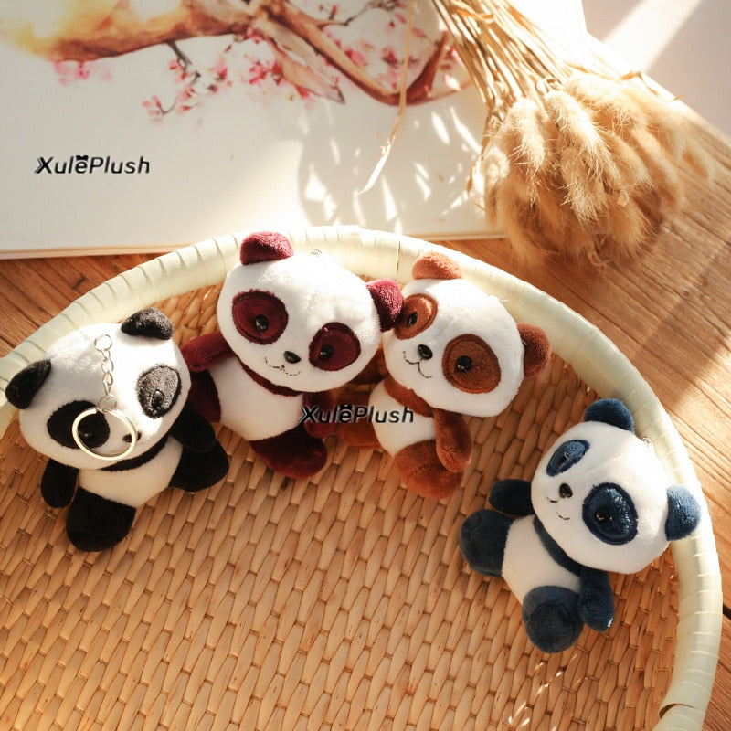 Panda Plush Stuffed Keychain [10CM, 4 Colors] - XshopZ