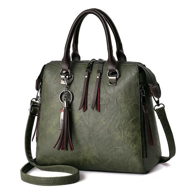 Buy Women's Fashion Casual Leather Handbag Zipper Crossbody Bags LUGGAGE & BAGS - Xshopz