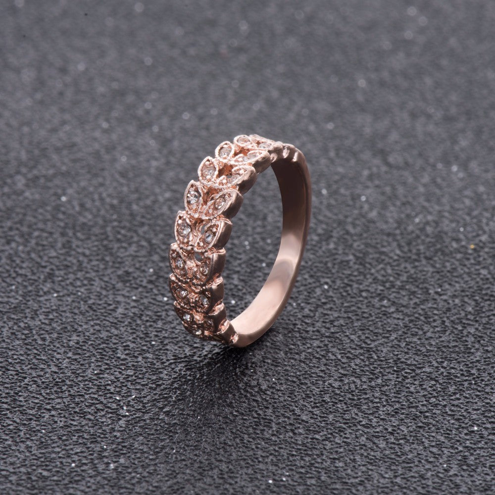 Buy Rose Gold Crystal Wedding Ring Jewelry - Xshopz