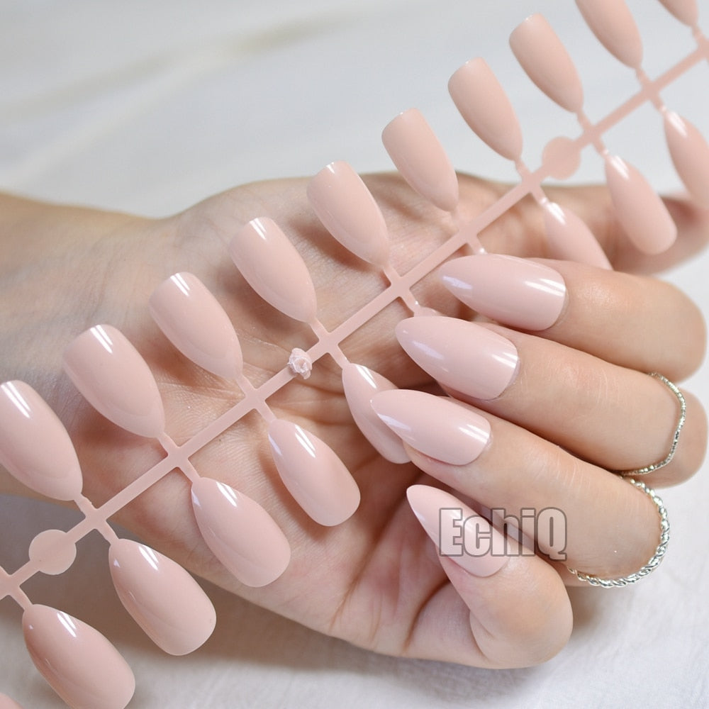 Buy Shiny Nude Nail Tree (24 Pcs) Women's Accessories - Xshopz