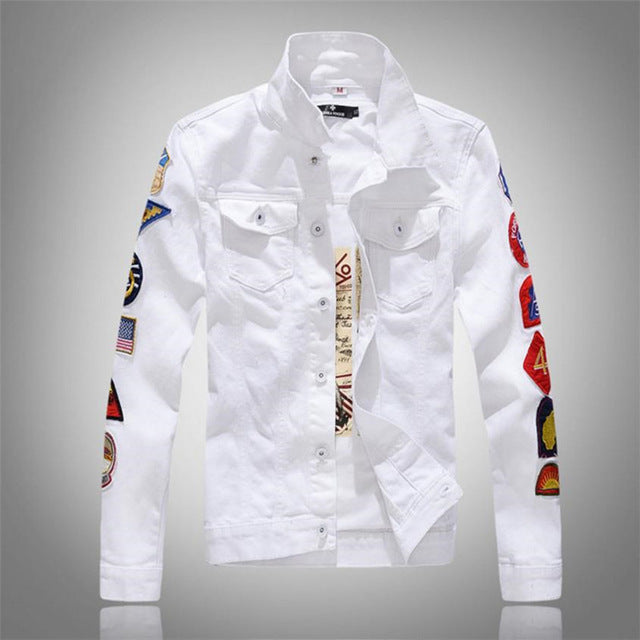 Men's Slim Fit Denim Jacket - Xshopz
