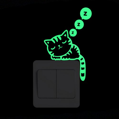 Cartoon Luminous Switch Dark Wall Stickers - Xshopz