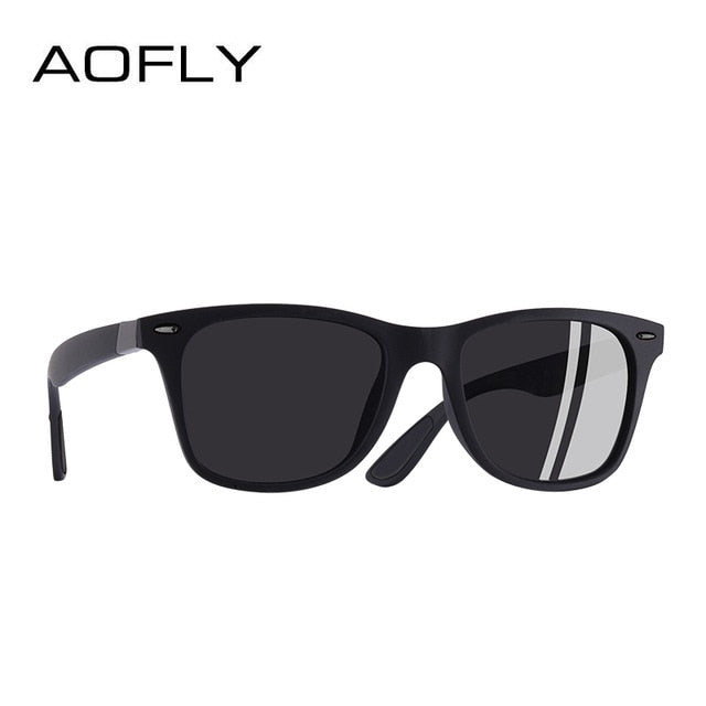 Buy Aofly Polarized Square Frame Sunglasses - UV400 Men Accessories - Xshopz