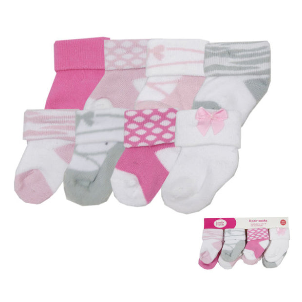 8 Pairs/ Baby Girl & Boy cotton toddler socks for sale - XshopZ