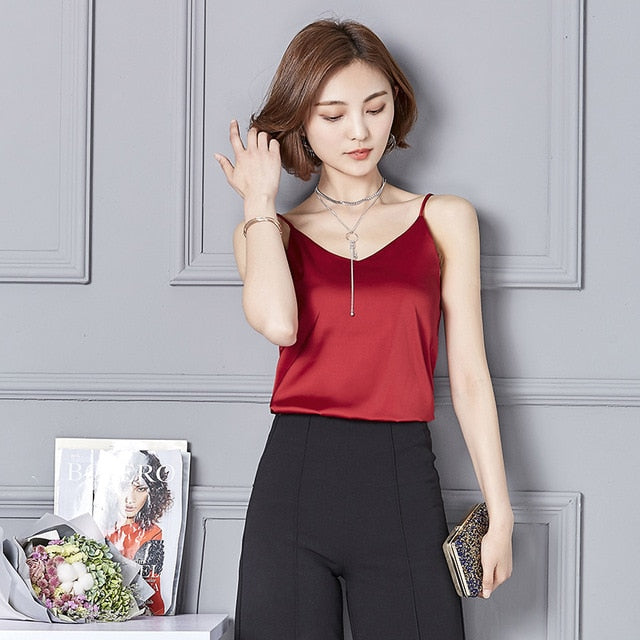 Buy Crop Top 2019 summer Solid Sleeveless Casual Tops Best Sellers - Xshopz