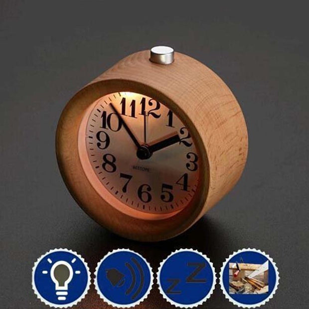 Lovely Wood Classic Round Table Alarm Clocks - XshopZ