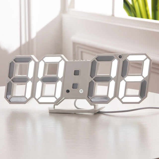 Digital Wall Modern 3D LED Clock for Home/Office - XshopZ