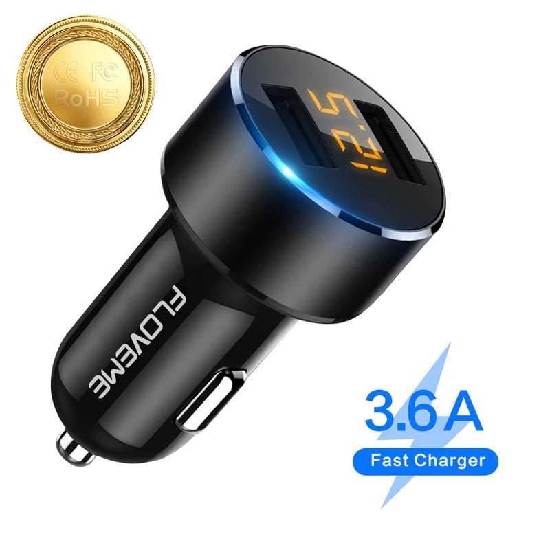 Buy Floveme 5V 3.6A Dual USB Fast Charging Car Charger Car Accessories - Xshopz