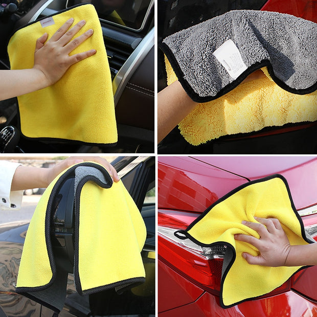 Buy Sea Metal Microfiber Car Clean Plush Towels Car Accessories - Xshopz
