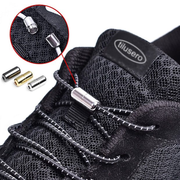 Buy No Tie Round Locking Elastic Shoe Laces Shoe's Accessories - Xshopz