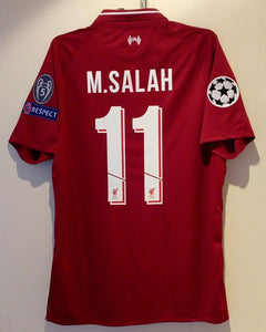 best sneakers fa106 eef01 Mohamed Salah Liverpool Home UCL Jersey 2018/19