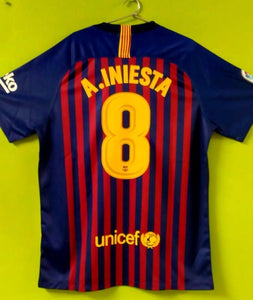 100% authentic 6889f 2fd30 Iniesta Barcelona Home Jersey 2018/19 | Football Jersey ...