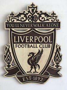 Liverpool Wooden Crest Wall Hanging