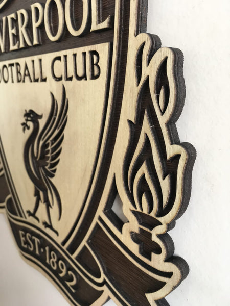 Liverpool Wooden Crest Wall Hanging - TheSportStuff