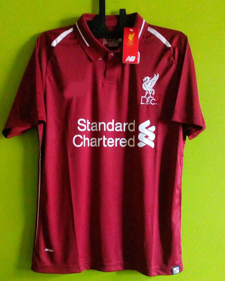 best sneakers 978e7 31d07 Mohamed Salah Liverpool Home UCL Jersey 2018/19