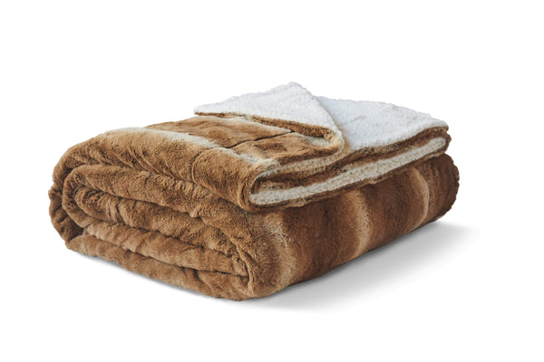 Reversible Faux Fur Sherpa Throw - From ViscoSoft (No Script)