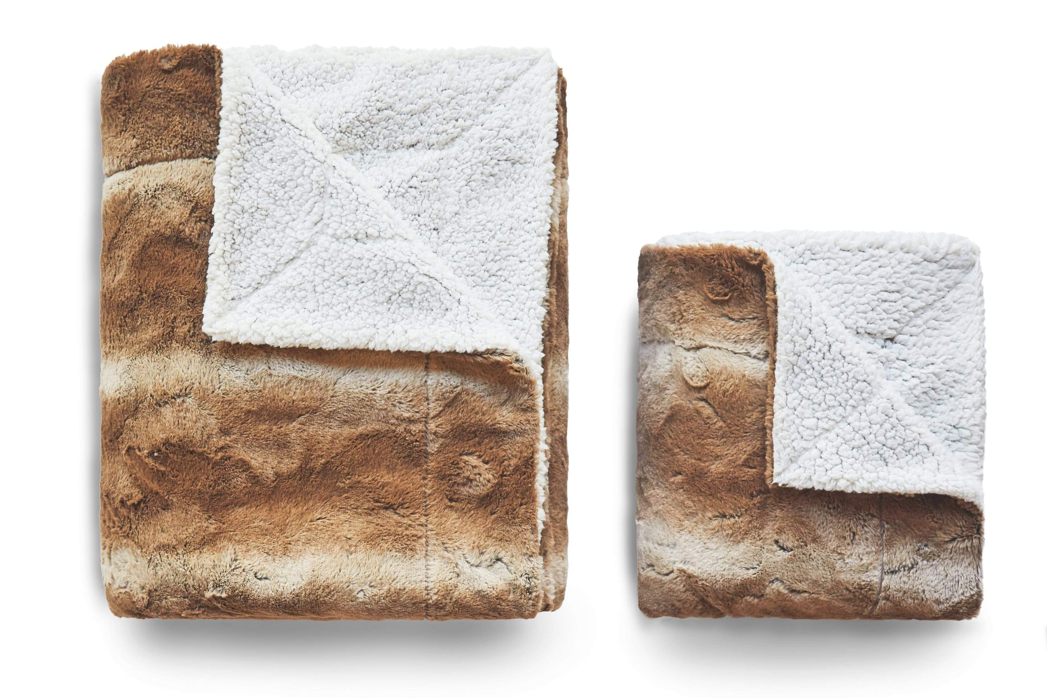 Reversible Faux Fur Sherpa Throw - From ViscoSoft