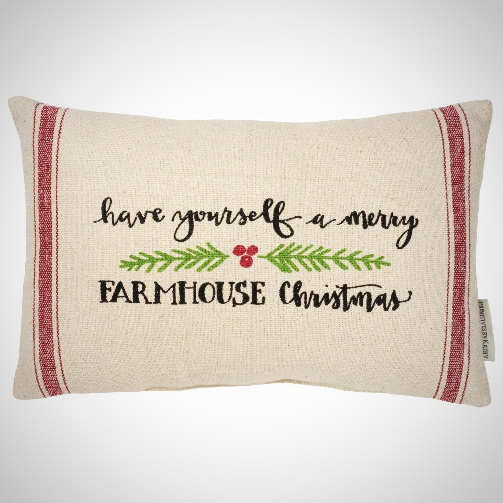 "Farmhouse Christmas Pillow - 15"" x 10"""
