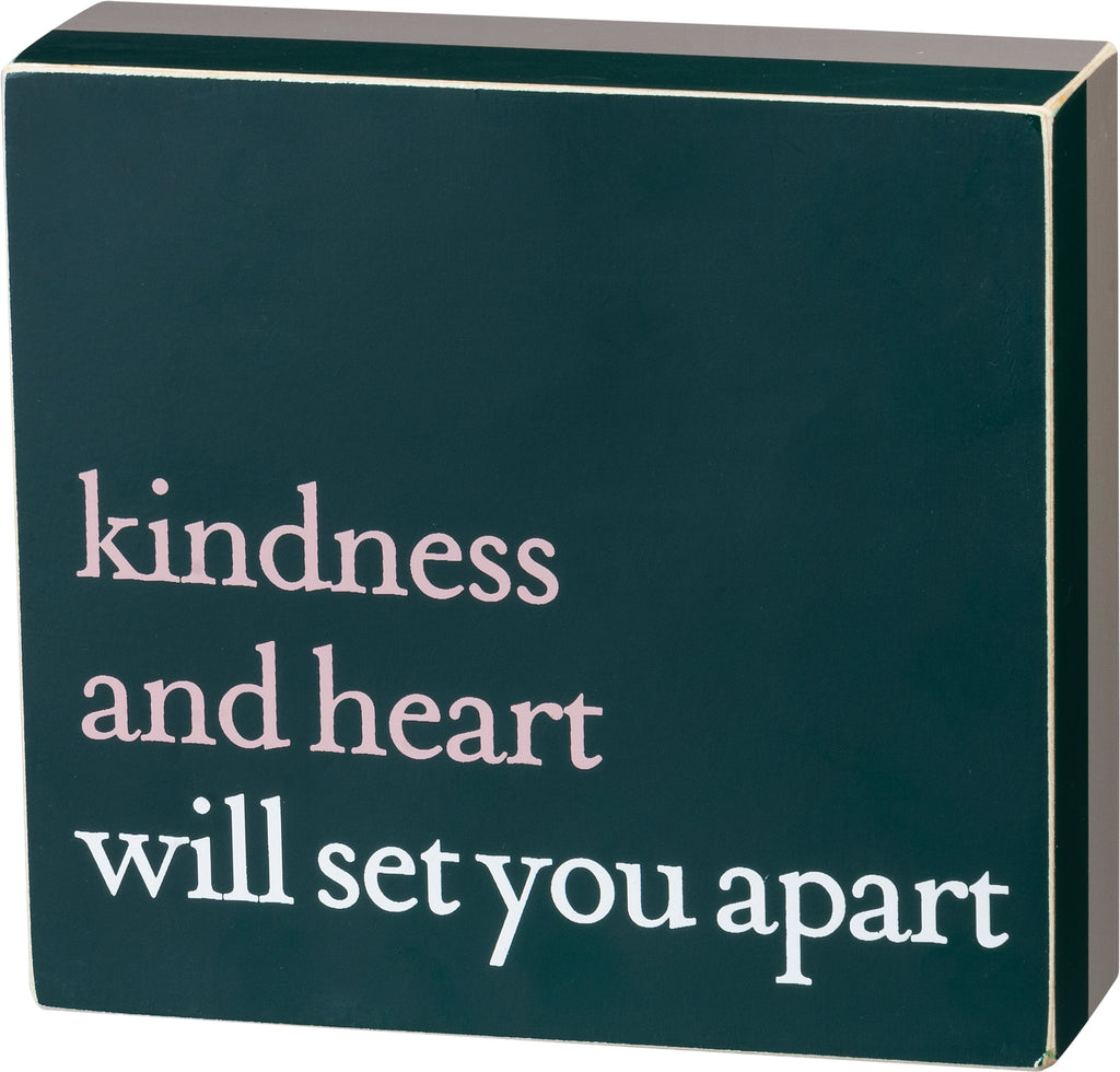 Kindness & Heart Box Sitter/Sign
