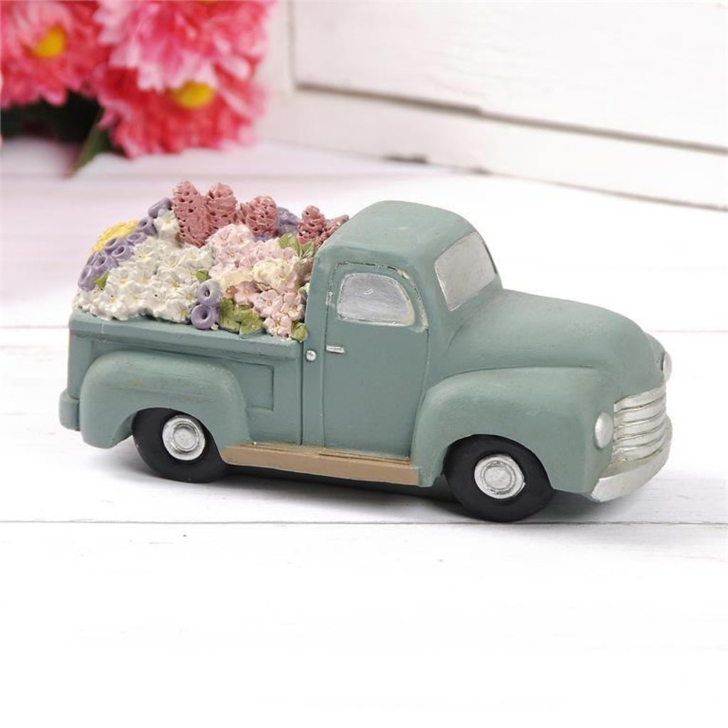 Blue Vintage Flower Truck - Spring Blossoms Collection