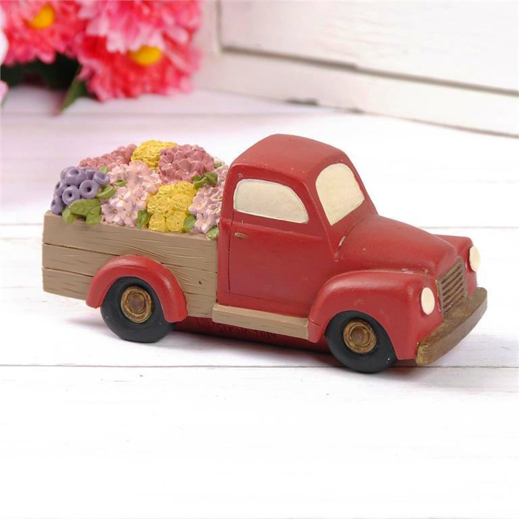 Red Vintage Flower Truck - Spring Blossoms Collection