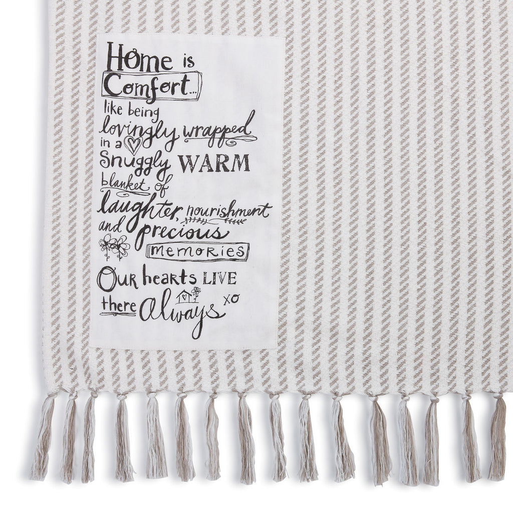 HOME IS COMFORT Throw Blanket