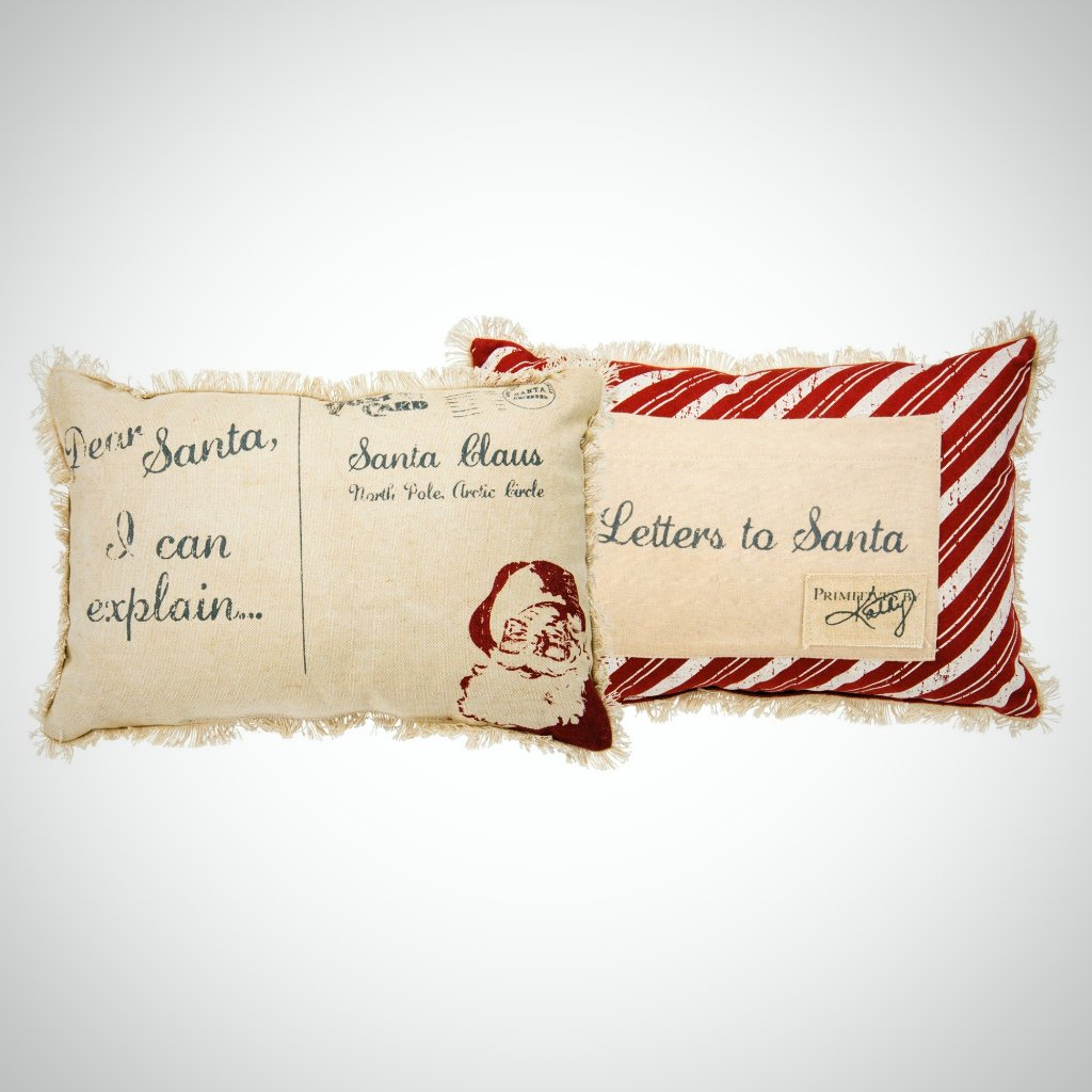 """Dear Santa"" Canvas Pillow - 10"" x 15"""