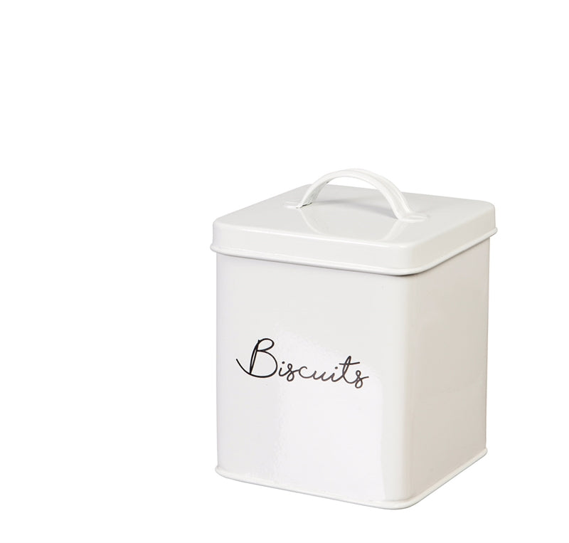 White Steel Kitchen Canister Set (5 pieces)