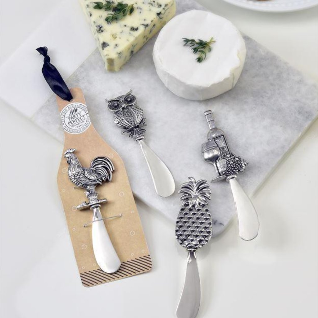Zinc Alloy Cheese Spreader - 4 Styles