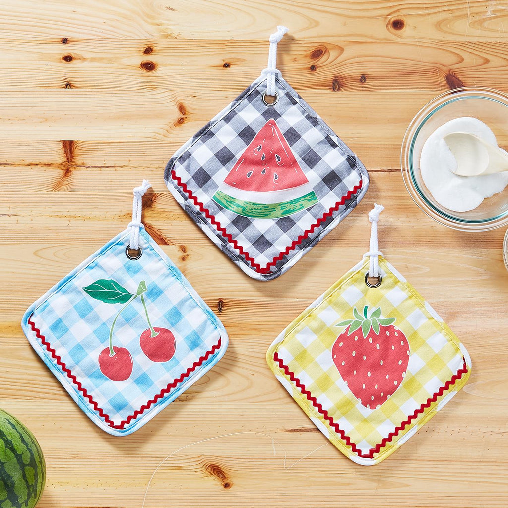 Fresh-Picked Fruit Pot Holder (3 Styles)