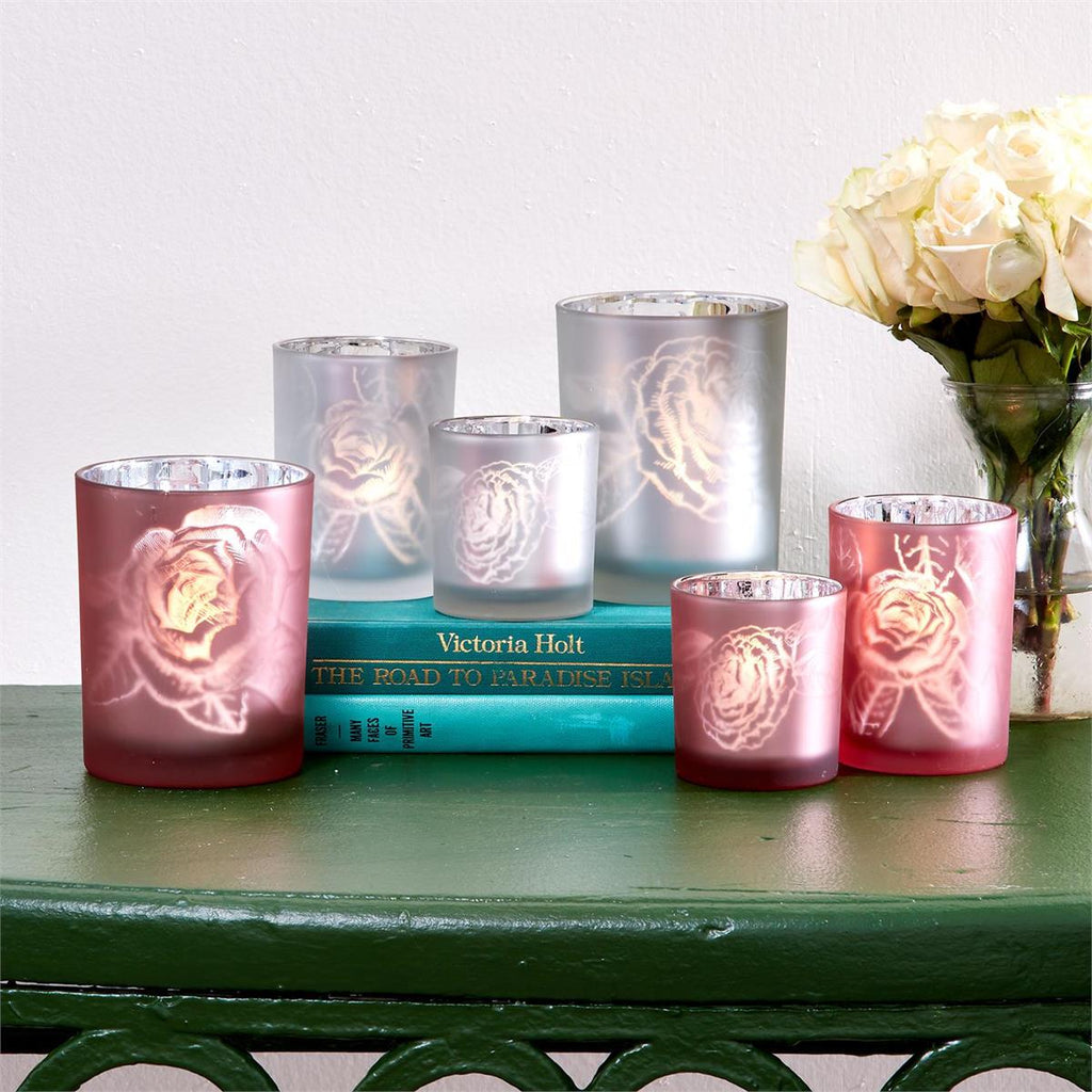 Rose Garden Silhouette Candle Holder Trio (2 Styles)