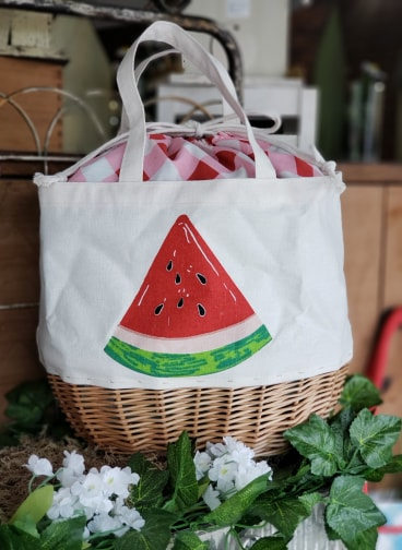 Fresh-Picked Fruit DRAWSTRING BASKET BAG (3 Styles)