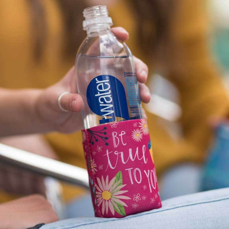 "Inspirational sentiment, ""Be True To You"", and fun artwork makes this pocketed drink sleeve, from the Simple Inspirations Collection, a practical, inspirational & fun treat for yourself or a friend."