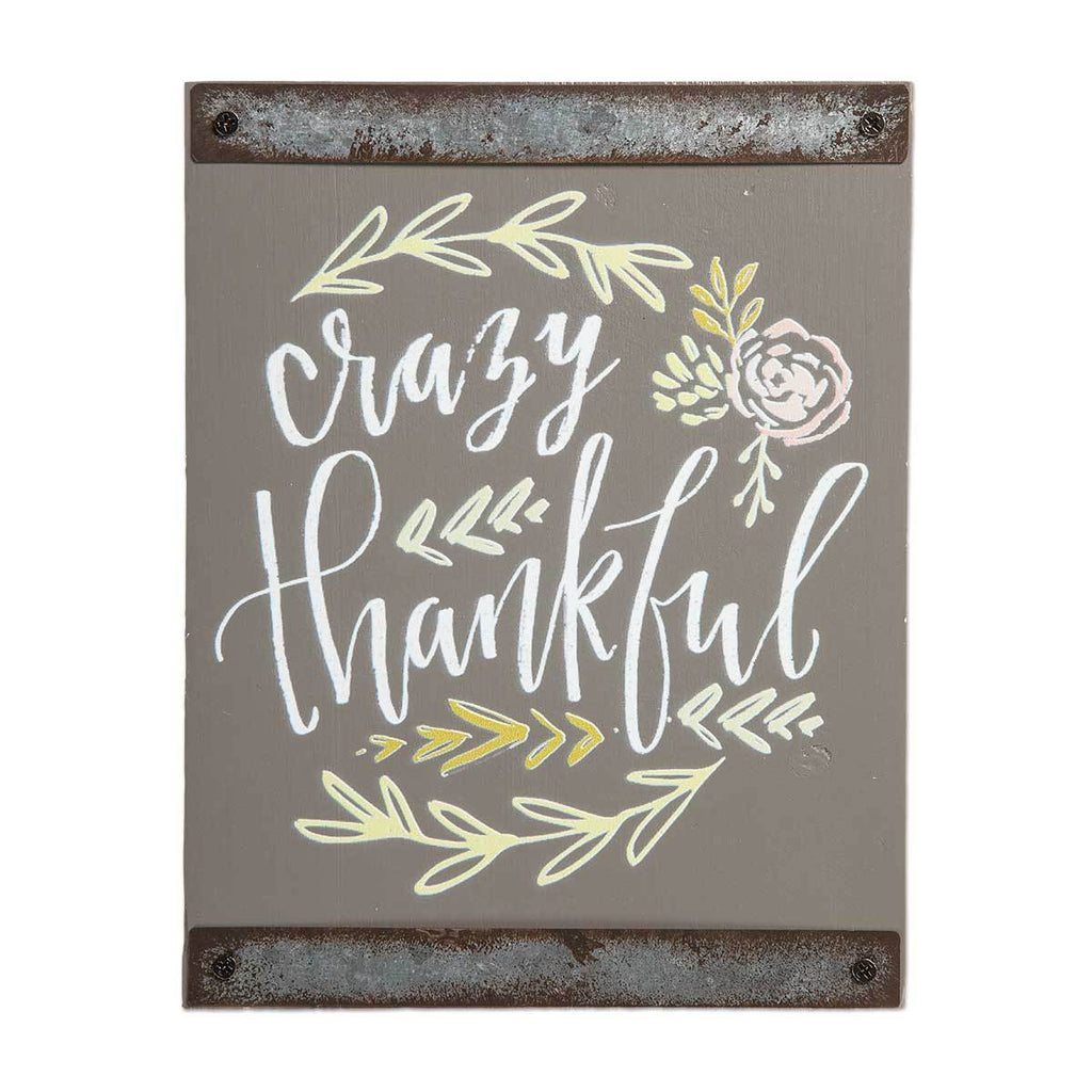 CRAZY THANKFUL Sentiment Block