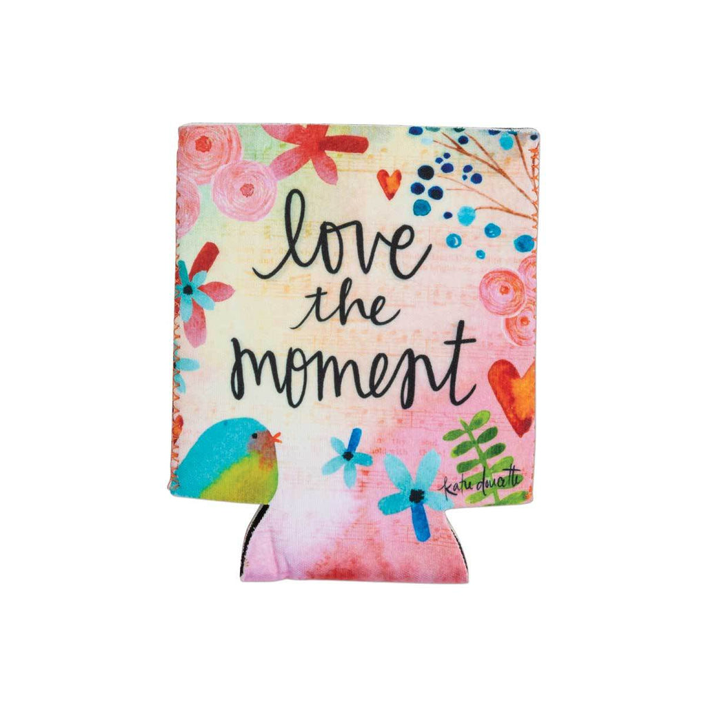 """Love The Moment"" Drink Sleeve w/Pocket"