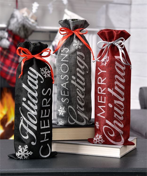Holiday Wine Bag - 3 Styles