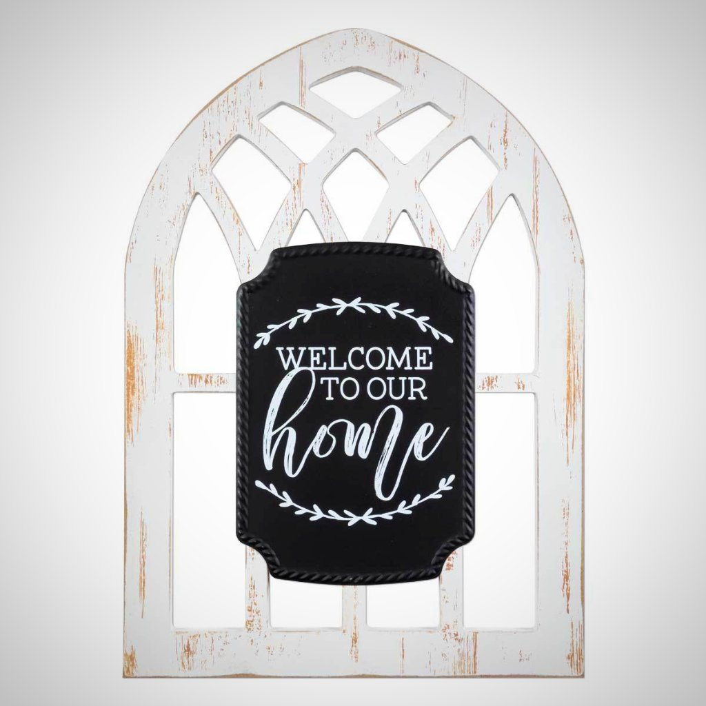 Welcome to Our Home Arched Window
