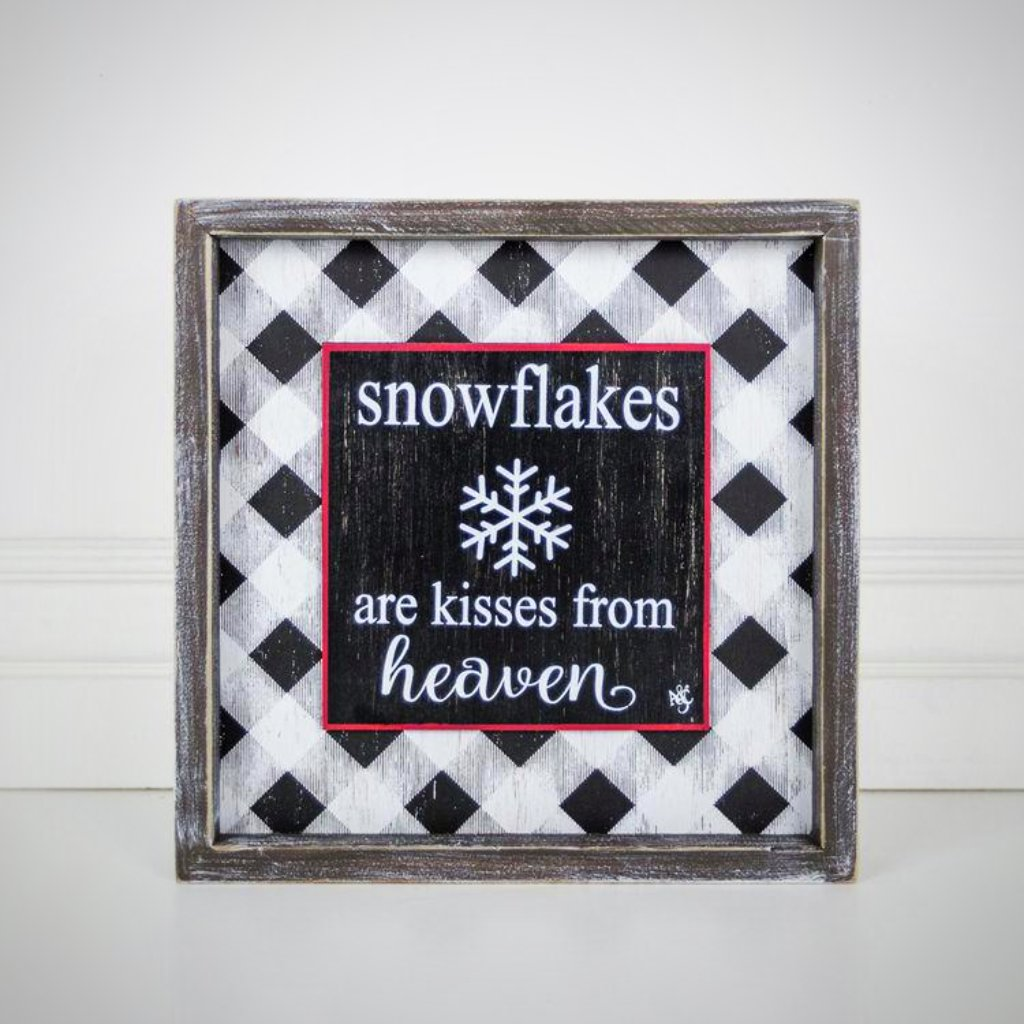 """Snowflakes Are Kisses from Heaven"" - 10"" Framed"